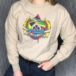 Vintage 1989 Nato Volvo Curro Graphic Long Sleeve